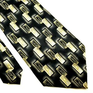 Pierre Cardin Silk Tie Gray Print Wide Abstract