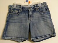 Buckle BKE Kate Stretch Women's Blue Jean Denim Shorts Size 31 Authentic