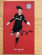 Fei Wang AK FC Bayern München Frauen Autogrammkarte 2017-18 original signiert