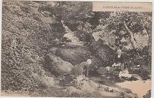 CARTE POSTALE ANCIENNE- LAVANDIERES lavant le LINGE à ST NICOLAS-DU-PELEM/C.Du N