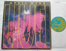 @APRIL WINE Live Ex CANADA 1974 1st Press AQUARIUS HARD ROCK LP