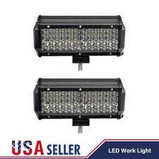 2X Quad Row 7Inch 480W 48 Led LED Work Light Bar Spot Offroad Driving 4WD Truck