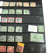 Vintage Us Air Mail Stamps C1 To C6-Total Of 21 Air Mails, Plus Other Misc.