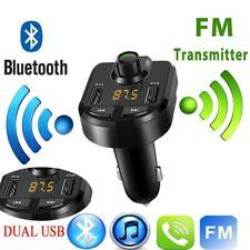 Bluetooth Para Coche Transmisor de FM Radio MP3 Reproductor TF Cargador 2 USB