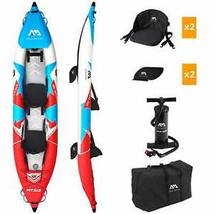 Aqua Marina Steam-412 Inflatable Kajak Aufblasbares Kayak Kanu Boot 2 Personen