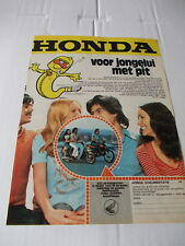Original magazine Advert. of the 70s - Honda brommer - A4