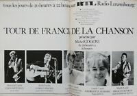 PUBLICITÉ PRESSE 1967 RTL TOUR DE FRANCE DE LA CHANSON MITCHELL MACIAS FRANCOIS