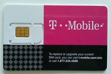 T-Mobile Sim card with Prepaid plan $50 10GB 4G LTE Free First month