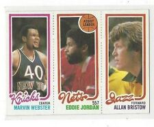 1980-81 TOPPS #152 #172 MARVIN WEBSTER #155 EDDIE JORDAN TL #239 ALLAN BRISTOW