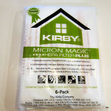 Kirby Universal 6/Pack Allergen Plus HEPA white polypropylene bags. 204814