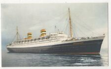 Holland-America Line, S.S. Nieuw Amsterdam Shipping Art Postcard B626