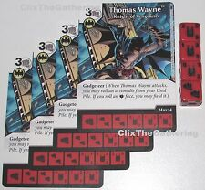 4x Thomas Wayne: Knight Of Vengeance 37/124 Batman Dice Masters Dc