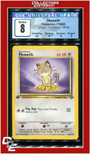 Jungle 1st Edition Meowth 56/64 CGC 8 - PSA BGS