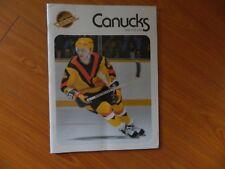 1978 Vancouver Canucks program vs Pittsburgh Penguins Nov.16 NHL