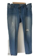 Jeanswest Curve Embracer Skinny 7/8 Ankle Zip Jeans - size 16