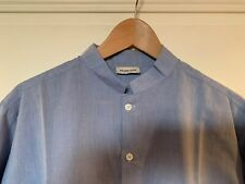 chemise coton bleu col mao marque MELINDA GLOSS taille 41