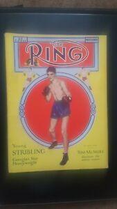 Vintage Ring Boxing Magazine. Nov. 1930. Young Stribling.