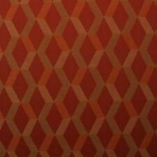 "OUTDURA METRIC GARDEN BRICK RED TRELLIS WOVEN OUTDOOR INDOOR FABRIC BY YARD 54""W"