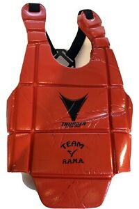 PROFORCE THUNDER SPORTS SPARRING CHEST PROTECTOR BODY GUARD RED CHILDS SMALL