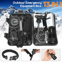 12 in 1 SOS Emergency Camping Survival Equipment Kit Outdoor Tactical Gea