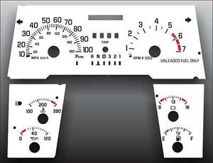 1996-1999 Buick LeSabre With Small Side Gauges Dash Cluster White Face Gauges