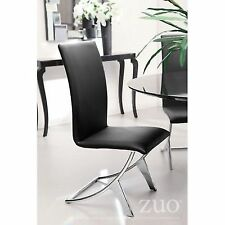 Zuo 102101 Delfin Dining Chair Black (Set of 2)
