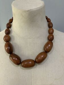 Oversized Wooden Necklace