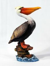 "Hand Painted 10.5"" Large Pelican Sea Bird Statue Figurine Sculpture 96P-B"