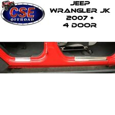 Jeep Wrangler JK STAINLESS Entry Guards 4 Door 2007-2017 11119.05 Rugged Ridge