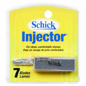 Schick Injector Single Edge Blades- 252 Blades (1 Case) + Makeup Sponge