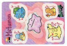 PROMO POKEMON BANDAI STICKER 1998 POCKET MONSTERS #.08 PIKACHU DITTO METAMON