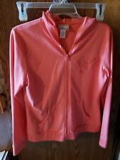 Fashion Bug Solid Pink Hoodie Embroidered Butterfly Size M