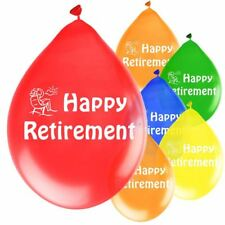 """10 Amscan Happy Retirement Retiring From Work 9"""" Latex Balloons Party 68609"""