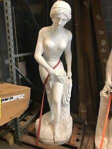 "78"" Marble Greek Decor Statue Nude Female Odalisque"