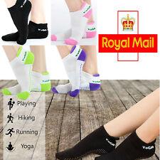 Non-slip Yoga Socks Barre Ballet Exercise Gym Heel Support New Cotton Pilates UK