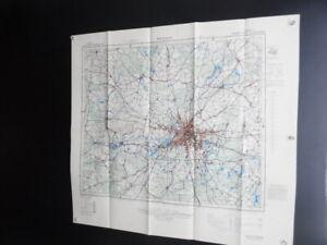 1944 Berlin Germany US Army Map Service Aeronautical Chart WWII Vintage Original