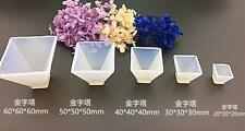 5pcs 3D Rectangular Pyramid Cabochon Silicon Mold Mould For Epoxy Resin Jewelry