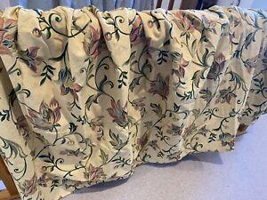 John Lewis Floral Jacquard - Cotton/Linnen Lined Curtains.