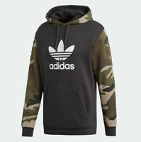 New Adidas 2019 Men Camouflage Hoodie Camo Pullover Jacket Trefoil DV2023