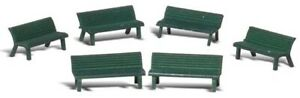 Woodland Scenics HO Scale Scenic Accents Detail Set - Green Park Benches