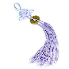 FENG SHUI FORTUNE COIN TASSEL LILAC Hanging Cure Spiritual Health Healing Purple