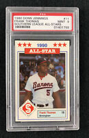 1990 Donn Jennings Frank Thomas #11 Southern League All-Stars - PSA Mint 9