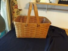 LONGABERGER BASKET extra large DBL SWING HANDLES plastic protective liner 16x12x