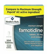 Member's Mark 20 mg Famotidine Acid Reducer 200 ct Compare to Pepcid AC