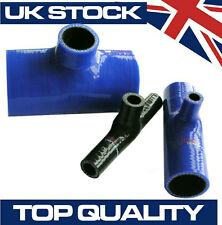 Silicone Hose T Piece Internal Diameter 16mm x 16mm x 16mm Tee Connector - Blue