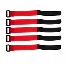 5X Red 20cm LiPo Battery Pack Straps Tie Down Reusable Straps Bands Cables