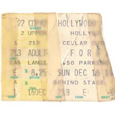 New listing Foreigner Concert Ticket Stub Hollywood Fl 12/16/79 Sportatorium Head Games Tour
