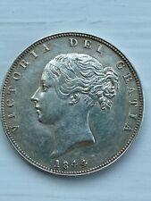 More details for 1844 queen victoria half crown - brilliant condition