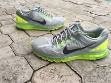 Nike Air Max 2013  Wolf Grey and Neon Green Size 11.