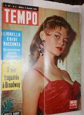 TEMPO 9 gennaio 1958 Brigitte Bardot Achille Lauro Schweitzer Ingrid Bergman di